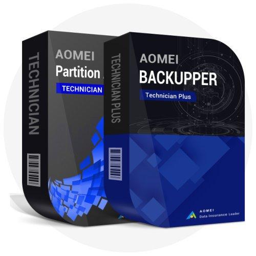 AOMEI Backupper Tech Plus + AOMEI Partiton Assistant Tech